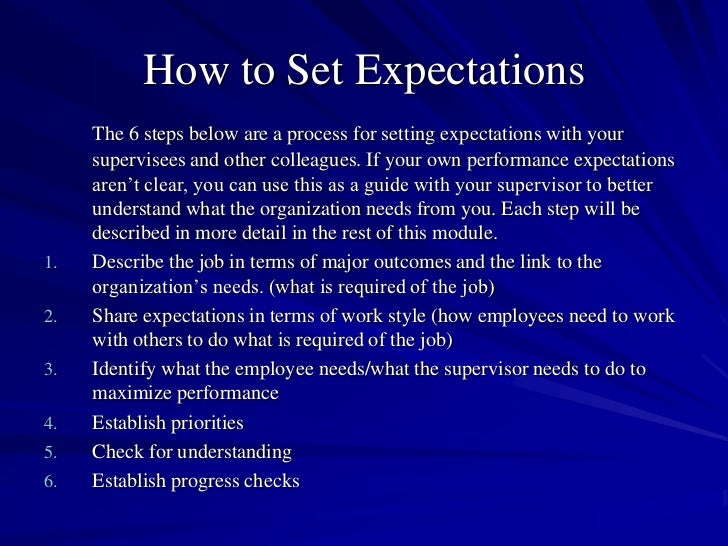 8 How To Set Expectations