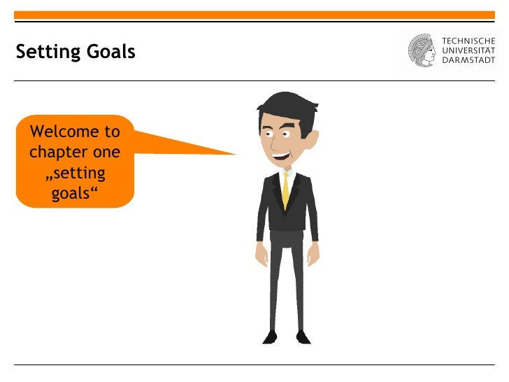 "Setting Goals Welcome to chapter one   ""setting    goals"""