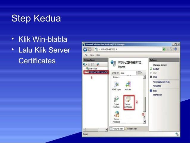 Tutorial HTTPS Windows Server 2008 Slide 3