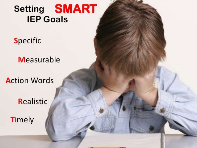 Setting IEP Goals SMART Specific Measurable Action Words Realistic Timely