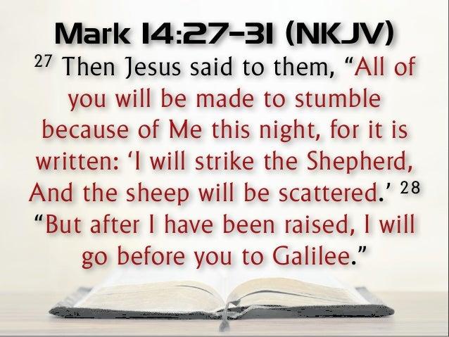 Kuvahaun tulos haulle Mark 14:27