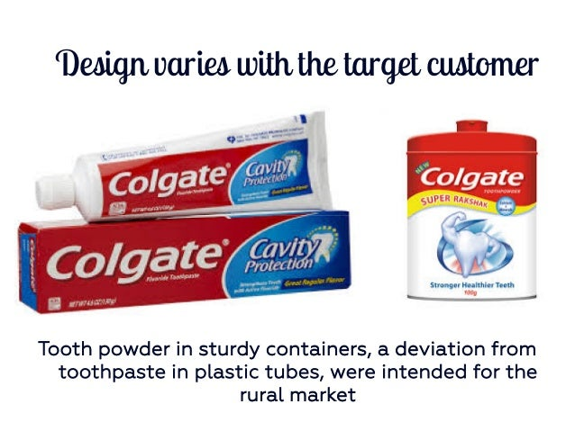 marketing and colgate