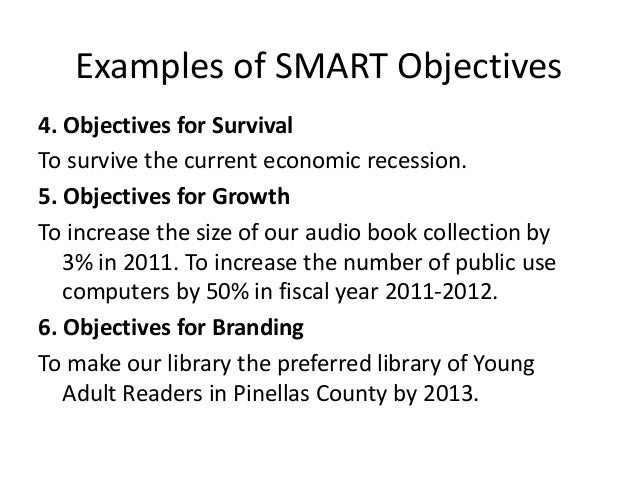 Setting smart objectives 32 examples of smart objectives pronofoot35fo Image collections