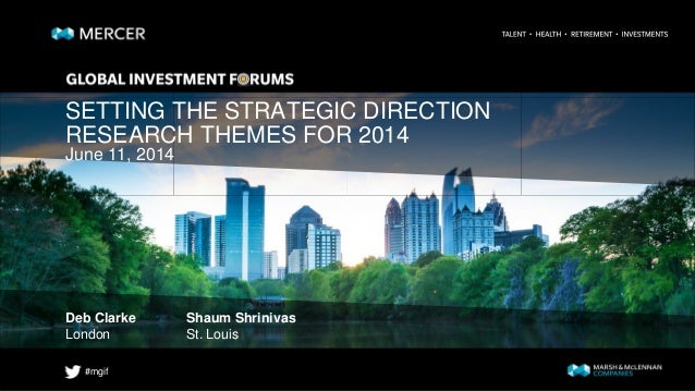 #mgif SETTING THE STRATEGIC DIRECTION RESEARCH THEMES FOR 2014 Deb Clarke Shaum Shrinivas London St. Louis June 11, 2014