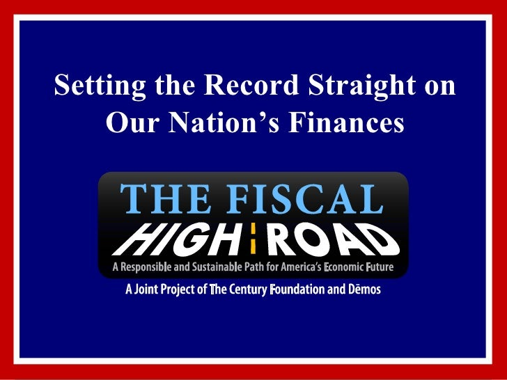 Setting the Record Straight on Our Nation's Finances
