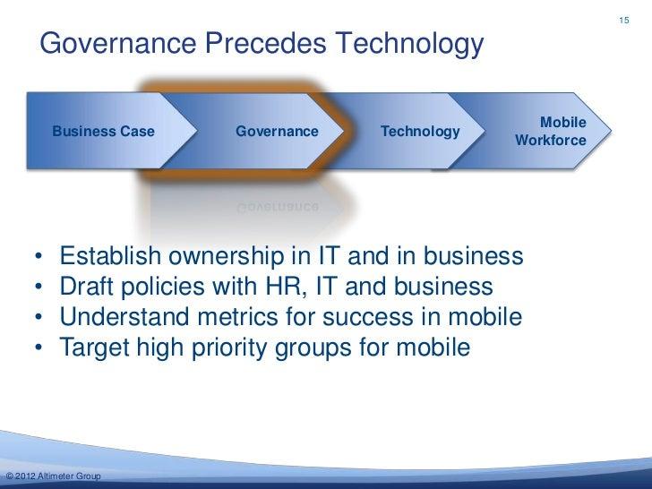 15       Governance Precedes Technology                                                        Mobile          Business Ca...