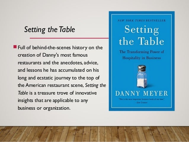 The Art of Hospitality; 9.  sc 1 st  SlideShare & ALICE Book Club - Setting the Table