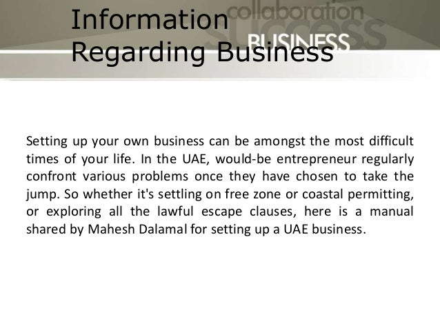 Setting up a Business in Dubai   Mahesh Dalamal Slide 2