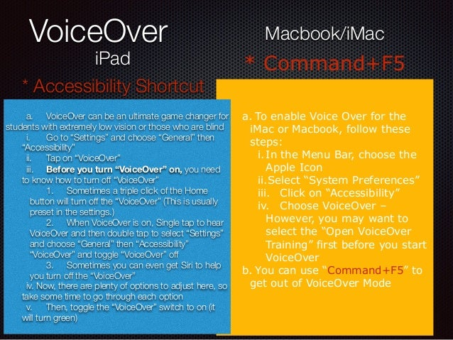 how to turn off voiceover on my macbook
