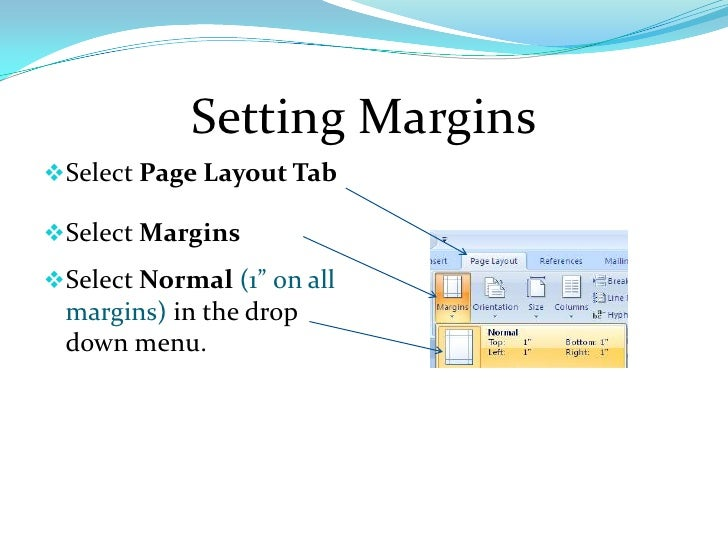 Margins for research papers
