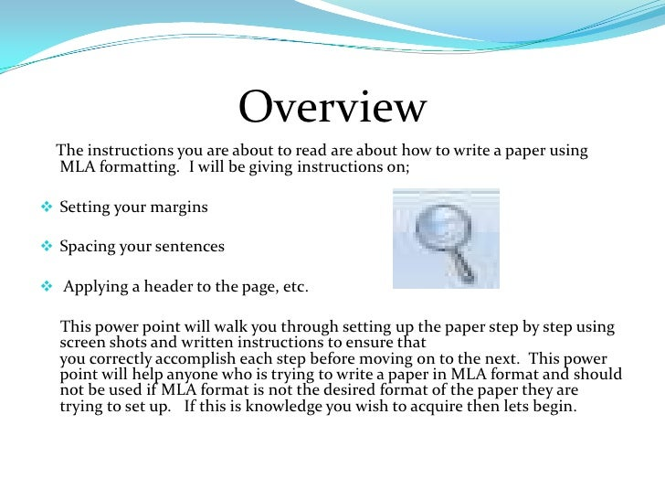 How to write my paper in mla format