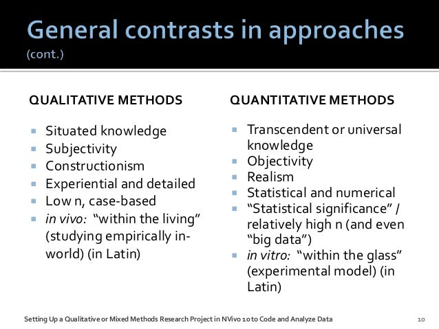 qualitive and quantitive method of social Comparison of qualitative and quantitative research quantitative and qualitative research are elements of both designs can be used together in mixed-methods.