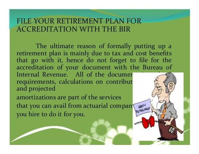 Setting up Retirement Fund