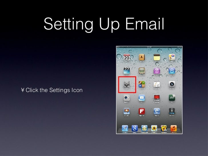 how to set up mail on ipad 2