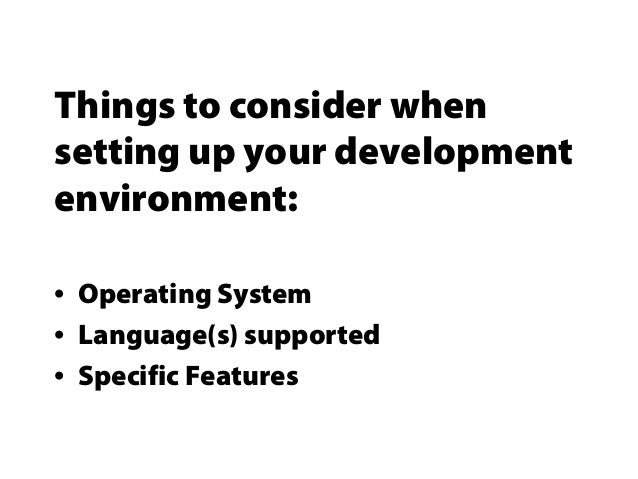 Setting up your development environment