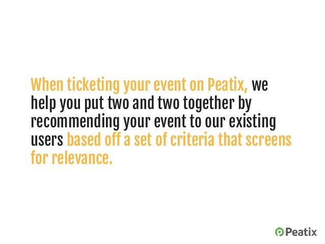 Setting up your event page on Peatix: 4 essential elements Slide 3