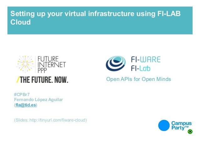 Setting up your virtual infrastructure using FI-LAB Cloud  Open APIs for Open Minds #CPBr7 Fernando López Aguilar (fla@tid...