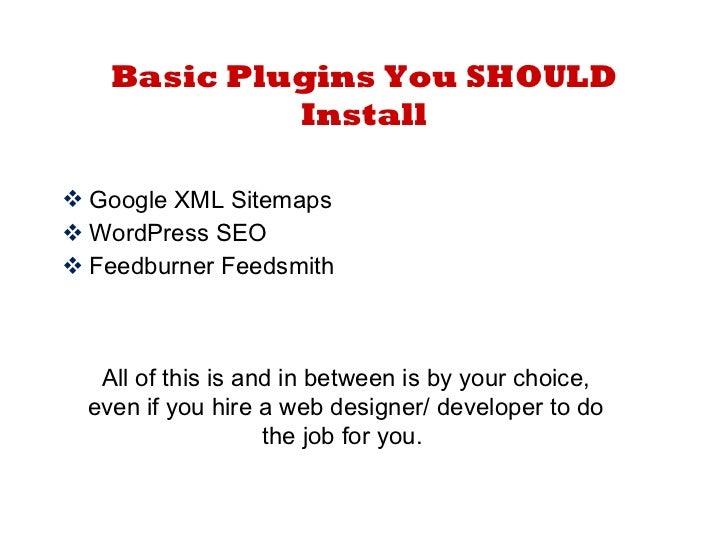 Setting Up your WordPress Site like a Pro slideshare - 웹
