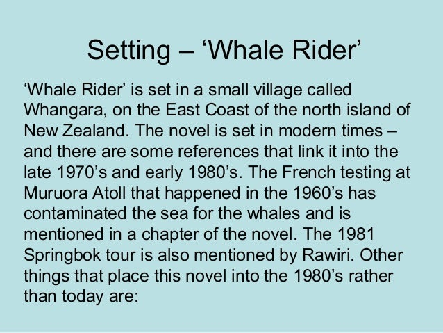 The whale rider techniques essay