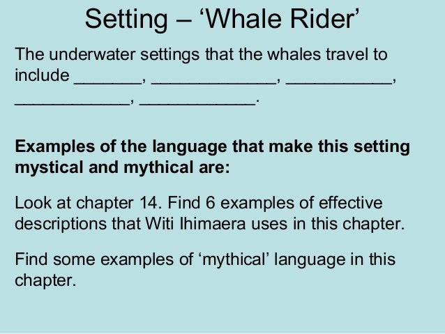 essays on whale rider Culture and religion, reflective outline - whale rider: the maori culture.
