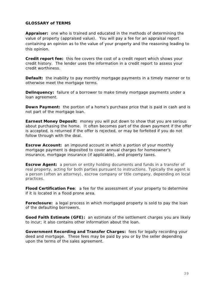 Hud Consumer Settlement Booklet