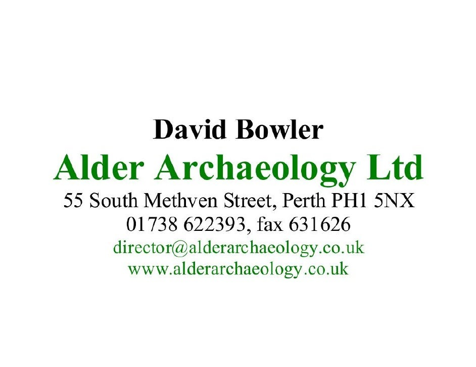 Settlement david bowler-alder archaeology ltd