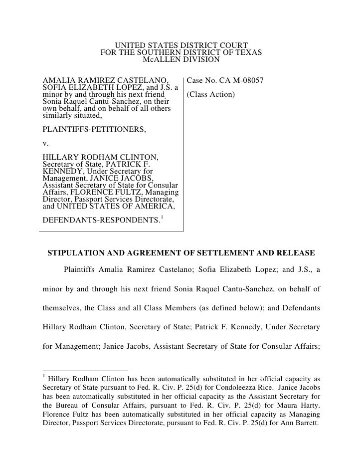 Settlement agreement dos settlement agreement dos united states district court for the southern district of texas platinumwayz