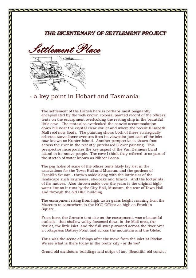 TTTHHHEEE BBBIIICCCEEENNNTTTEEENNNAAARRRYYY OOOFFF SSSEEETTTTTTLLLEEEMMMEEENNNTTT PPPRRROOOJJJEEECCCTTT Settlement Place -...