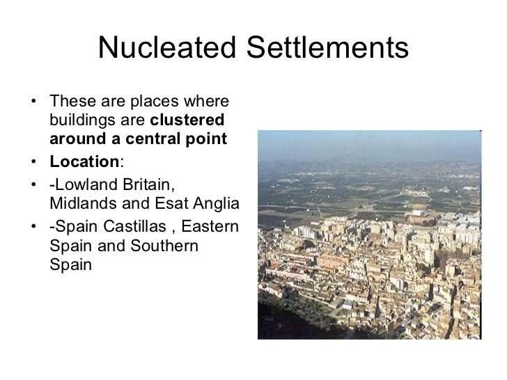 define nucleated settlement