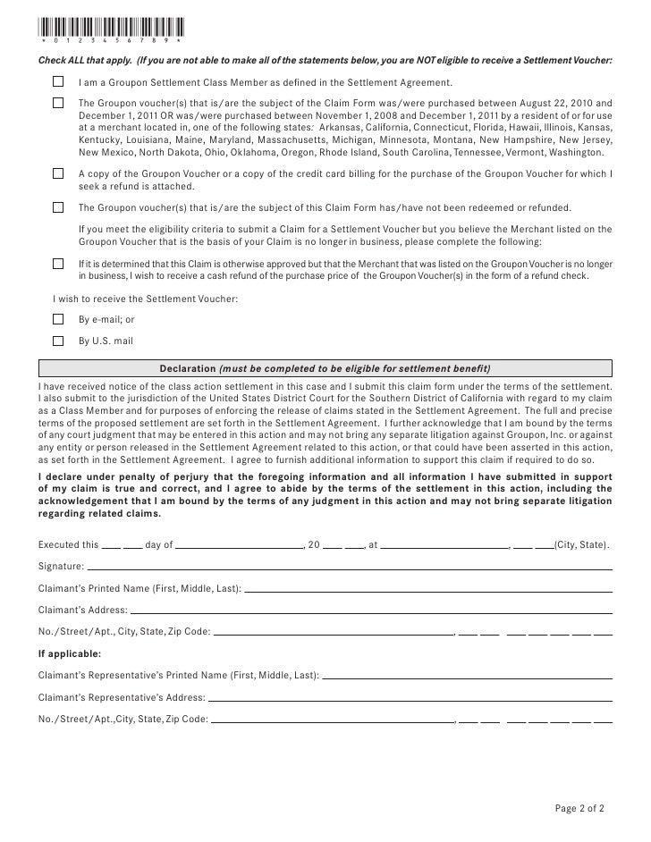 Groupon settlement voucher claim form