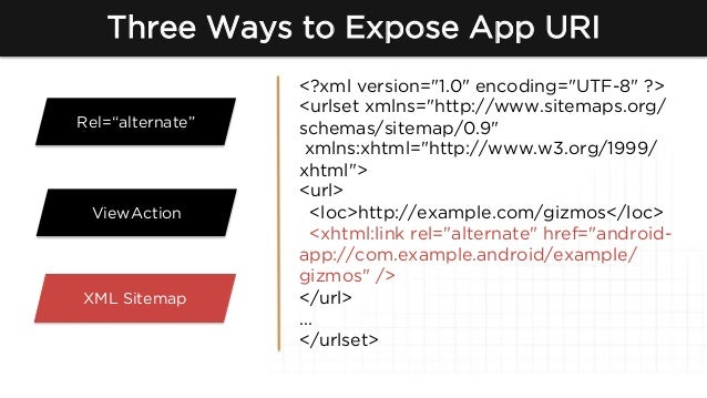 how to setup app indexation