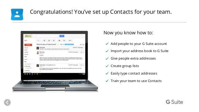 Setup contacts (2)