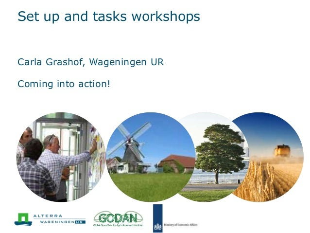 Set up and tasks workshops Carla Grashof, Wageningen UR Coming into action!