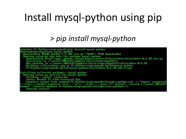 pip2 install mysql-python
