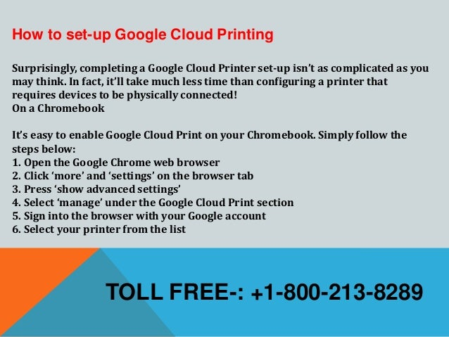 1-800-213-8289 Setup Google Cloud Print from Epson Wireless Printer