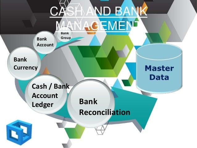 Bank GroupBank Account Bank Currency Cash / Bank Account Ledger CASH AND BANK MANAGEMENT Bank Reconciliation