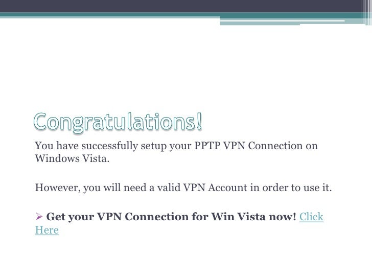how to create pptp vpn