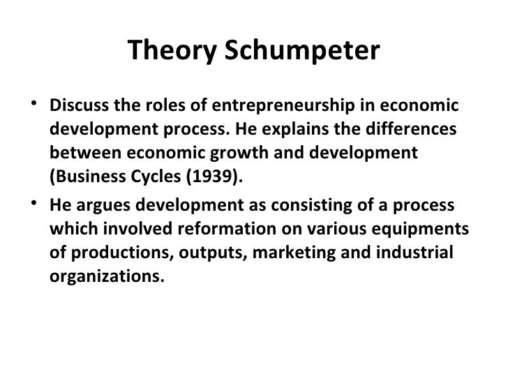 the schumpeterian theory of economic growth Downloadable the first edition of theory of economic development was published in 1911 it is a well known fact that after his death joseph alois schumpeter – the most quoted economist after keynes – experienced a purgatorial season from which he emerged at the time of the first petroleum shock , at the beginning of the.