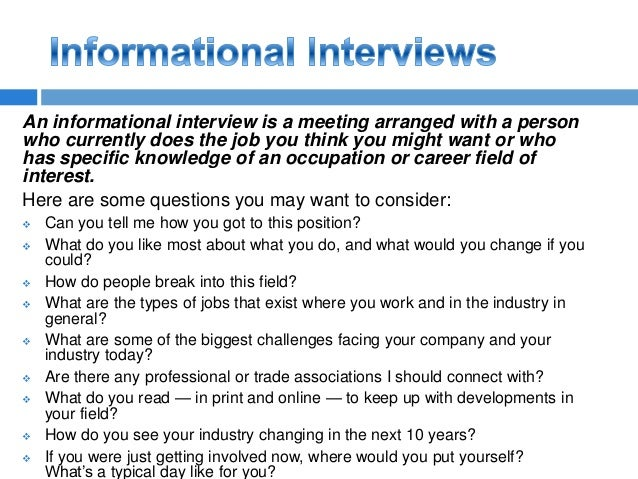 career shadowing questions
