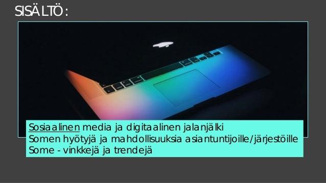 Sosiaalinen media järjestöviestinnässä Slide 3