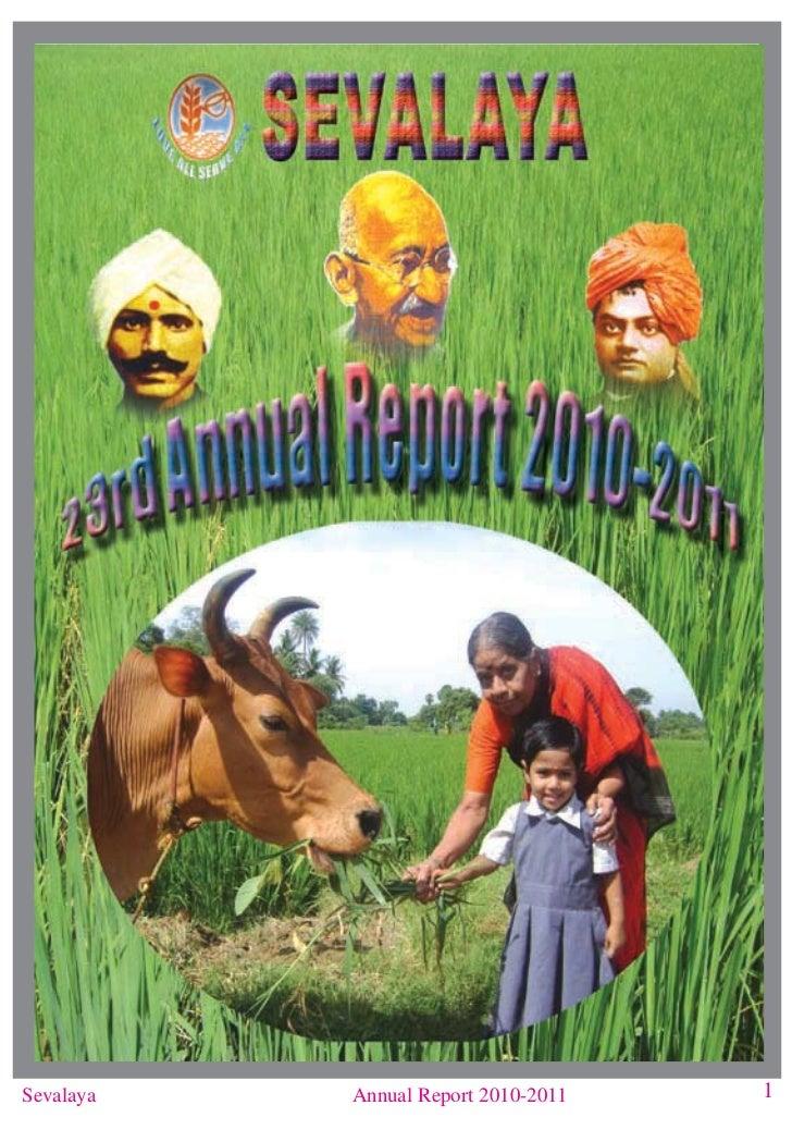 Sevalaya   Annual Report 2010-2011   1