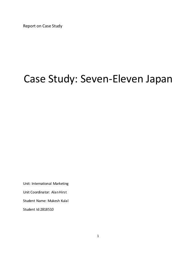 Case Study  fx       Case Study   Seven Eleven Japan co Kishan       pages Chapter       GSCM at DEC Case