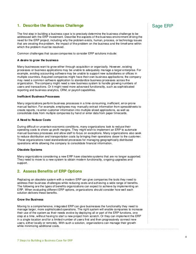 7 steps to building a business case for erp building a business case for erp 4 fbccfo Gallery