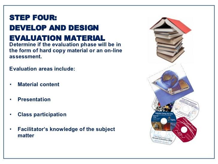 <ul><li>Material content </li></ul><ul><li>Presentation </li></ul><ul><li>Class participation </li></ul><ul><li>Facilitato...
