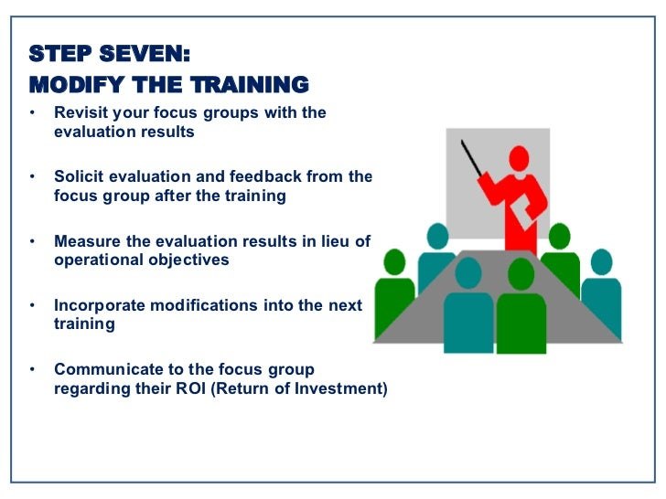 <ul><li>Revisit your focus groups with the evaluation results </li></ul><ul><li>Solicit evaluation and feedback from the f...