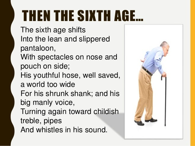 the seven ages of man Shakespeare contributed much wisdom to our understanding of the human  condition, but his description of old age does not appear to have.