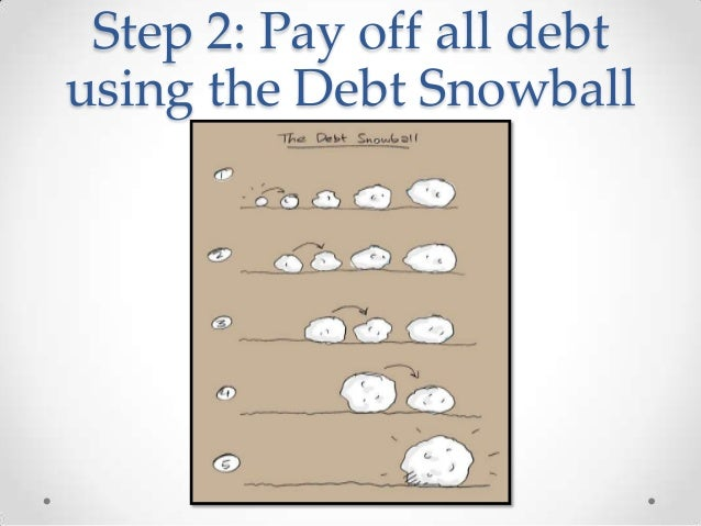 step 2 pay off all debt using the debt snowball