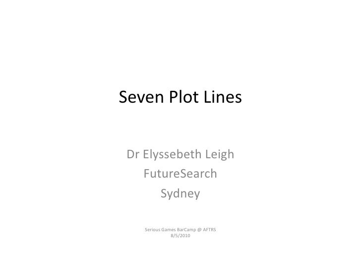 Seven	   Plot	   Lines	      Dr	   Elyssebeth	   Leigh	           FutureSearch	              Sydney	          Serious	   G...