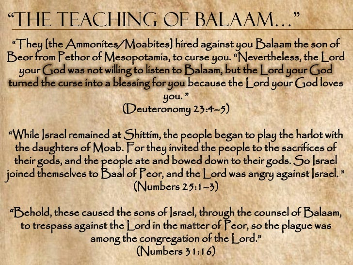 Image result for spirit of balaam the seven churches images