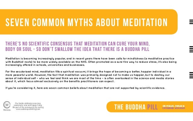 Seven Common Myths about Meditation (The Buddha Pill) Slide 2